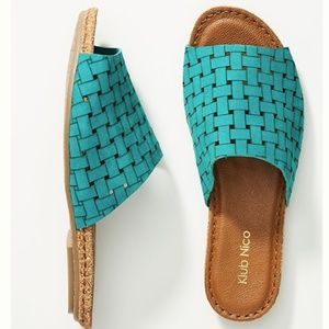 Anthropologie KLUB NICO Woven Leather Slide Sandal